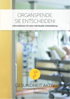 gesundheit aktiv broschren organspende TITEL